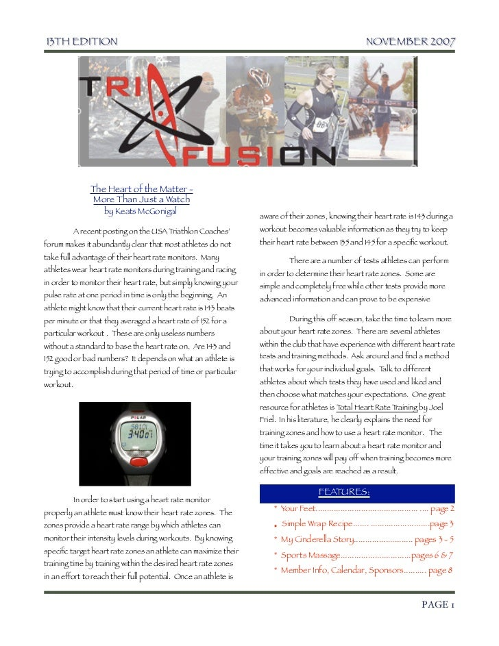 TriFusion Newsletter - Nov.'07