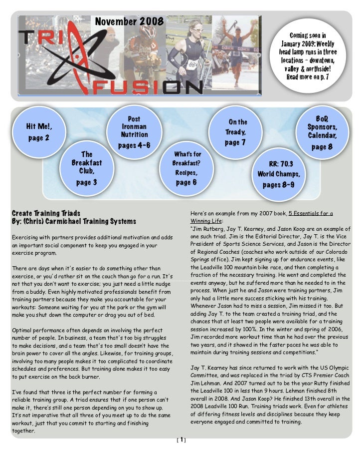 TriFusion Newsletter - Nov.'08