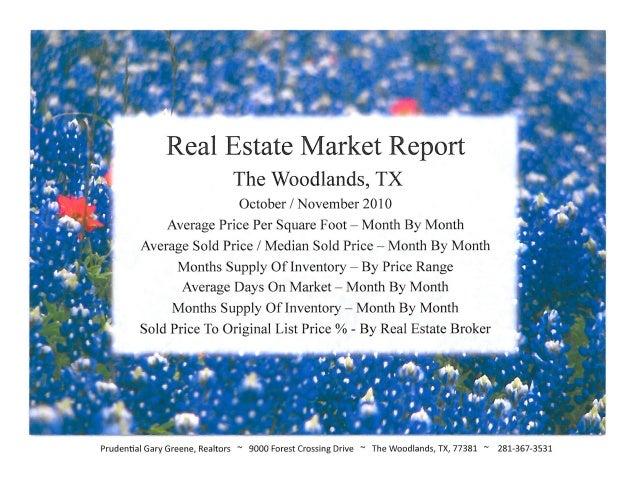 November 10 2010 market reports for The Woodlands, Texa