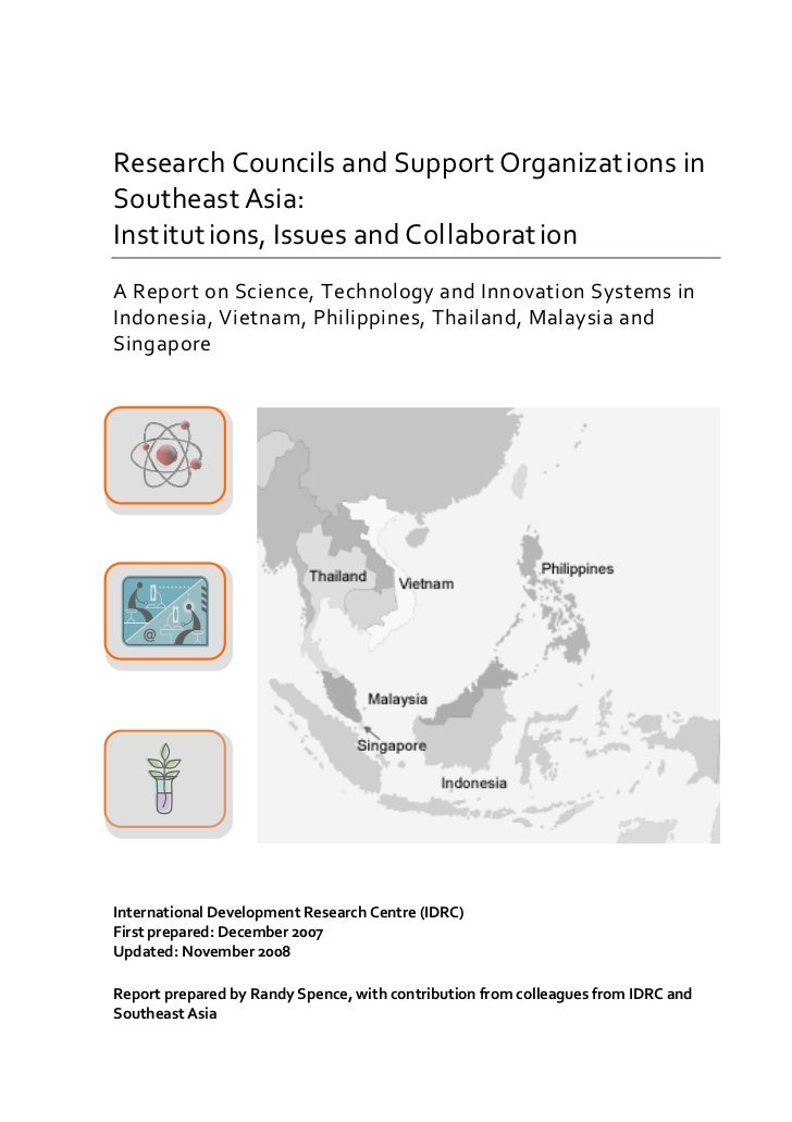Research Councils and Support Organizations in Southeast Asia: Institutions, Issues and Collaboration