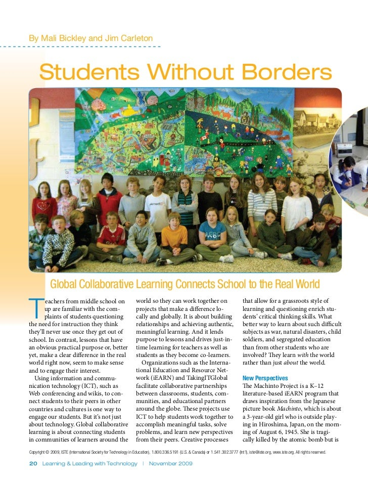 By Mali Bickley and Jim Carleton      Students Without Borders                                                            ...
