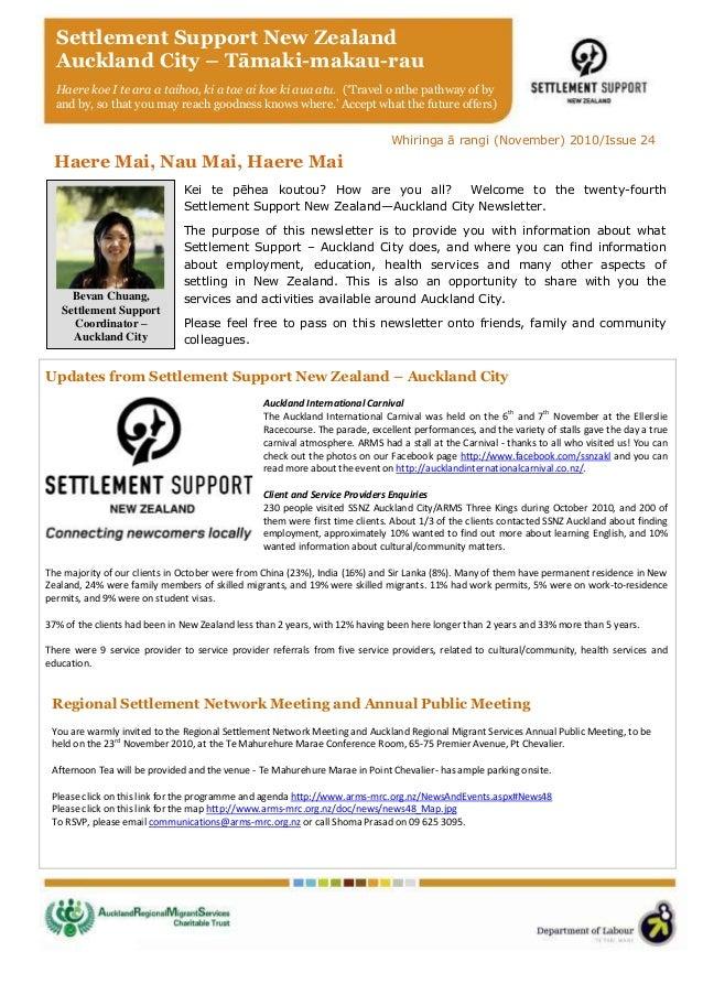 SSNZ Auckland Newsletter November 2010
