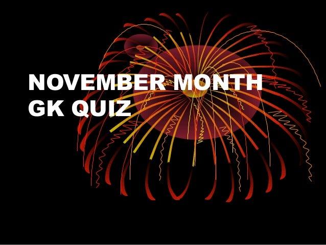 November month gk quiz
