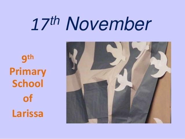 th 17 9th Primary School of Larissa  November