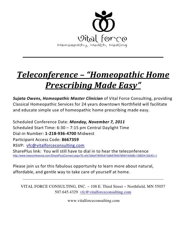 November teleconference