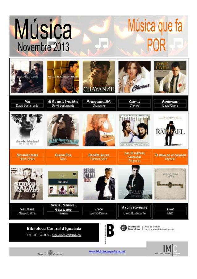 Novembre musica 2013