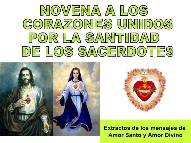 Extractos de los mensajes de  Amor Santo y Amor Divino
