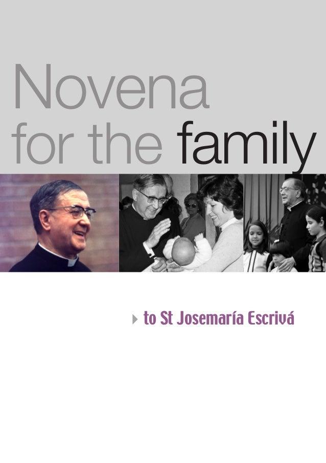 Novena for the family 4to St Josemaría Escrivá