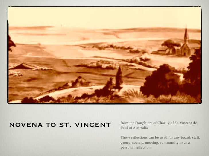 novena to st. vincent   from the Daughters of Charity of St. Vincent de                         Paul of Australia         ...