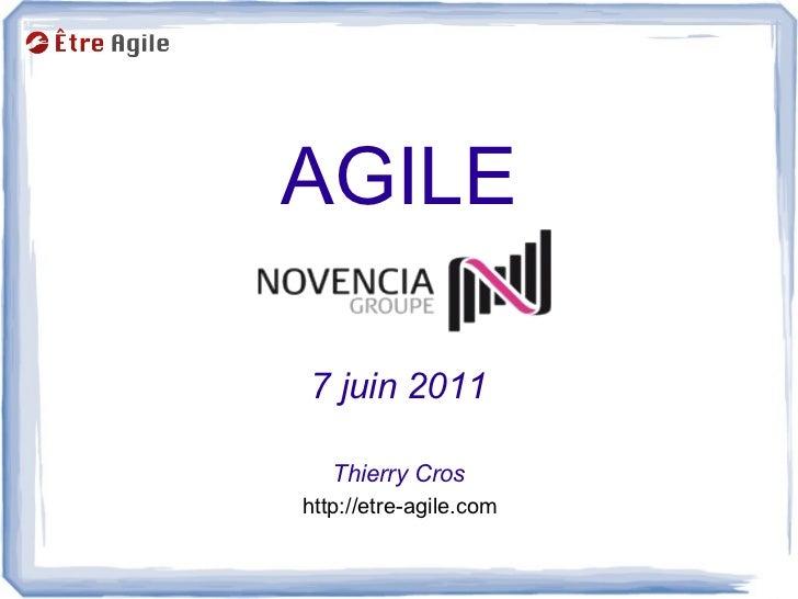 AGILE7 juin 2011   Thierry Croshttp://etre-agile.com
