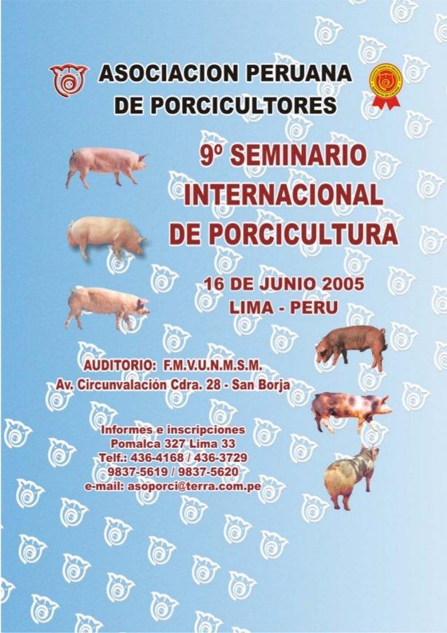 9no seminario internacional asociacion peruana de porcicu
