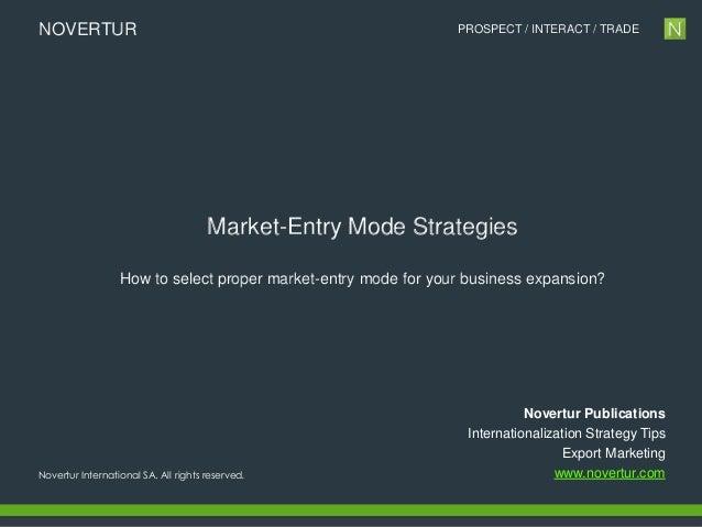 Novertur | Market Entry Mode Strategies