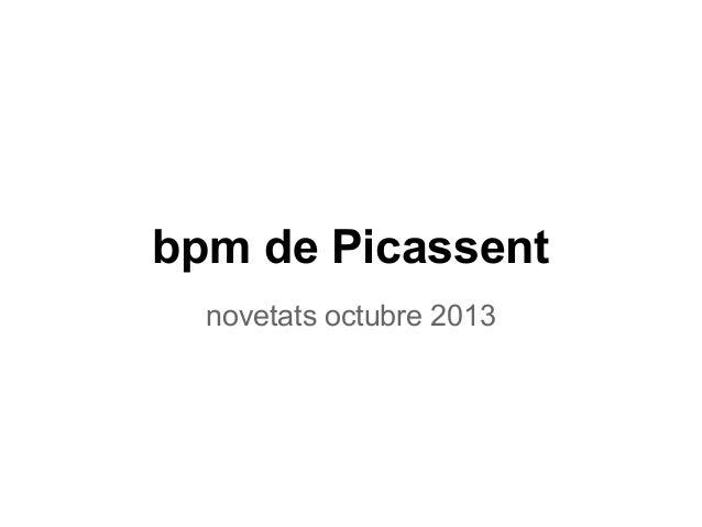 bpm de Picassent novetats octubre 2013