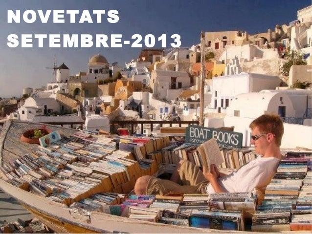 NOVETATS SETEMBRE-2013