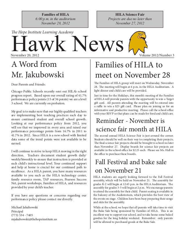 HILA Hawk News - November 2012