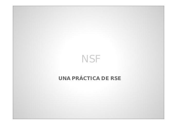 NSFUNA PRÁCTICA DE RSE