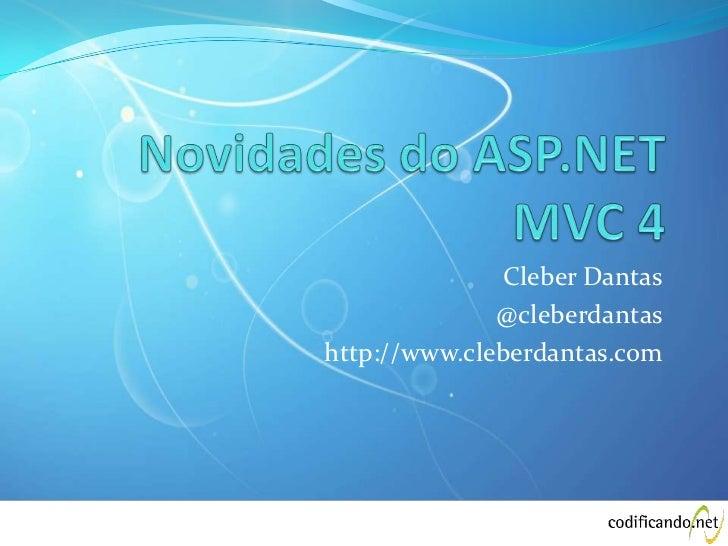 Novidades asp.net mvc 4