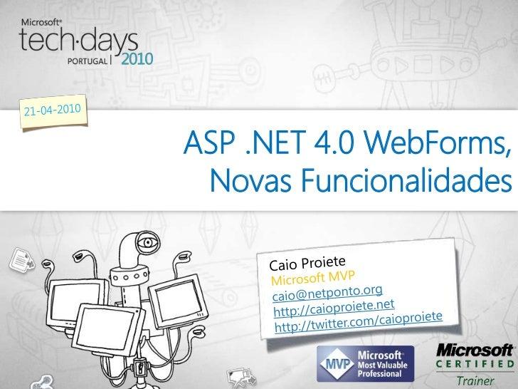 ASP .NET 4.0 WebForms, Novas Funcionalidades