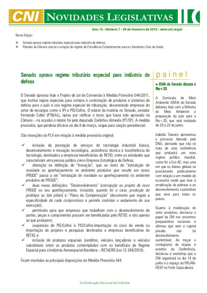 Novidades Legislativas Nº 07 | 29/02/2012