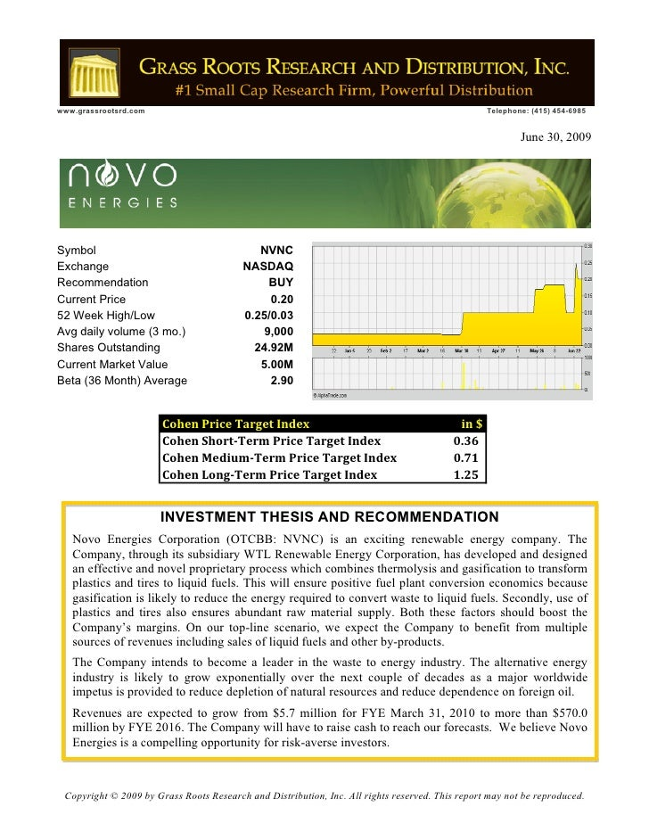 Novo Grass Roots Research Report