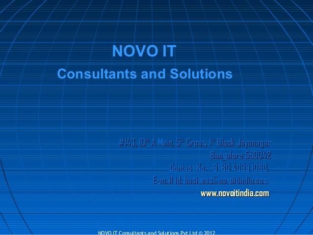 Novo it corporate presentation 2013