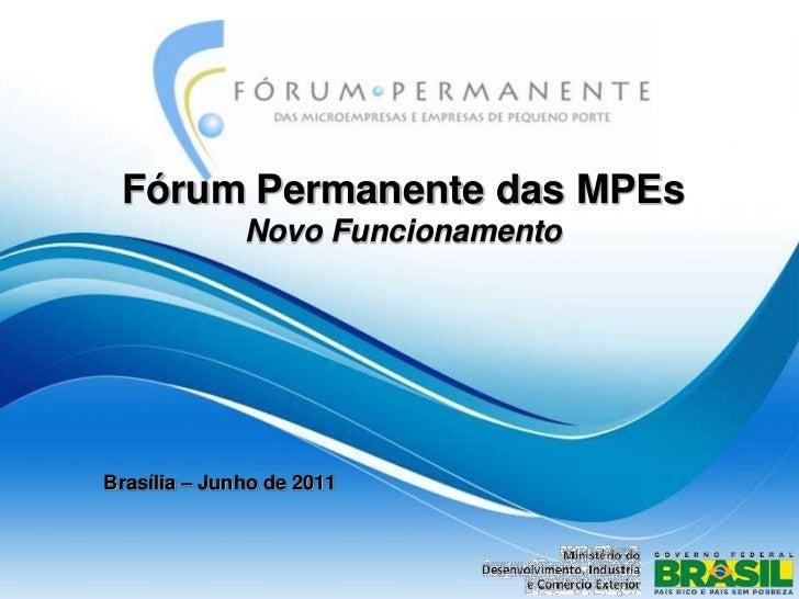 Novo modelo de apresentação nas reuniõe do fórum 1