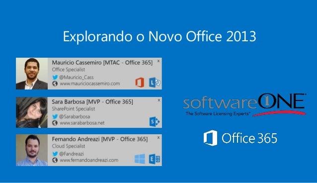 Explorando o Novo Office 2013