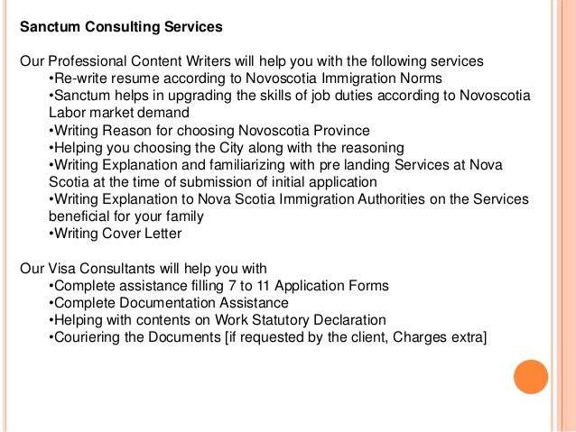 Cover Letter Immigration Consultant