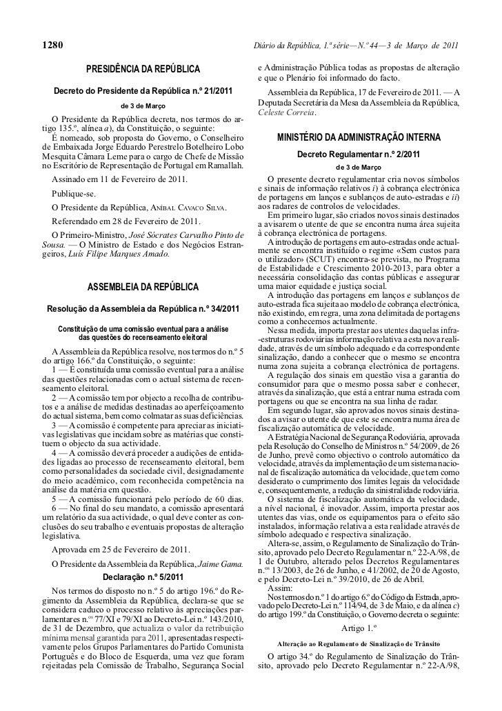 1280                                                         Diário da República, 1.ª série — N.º 44 — 3 de Março de 2011 ...