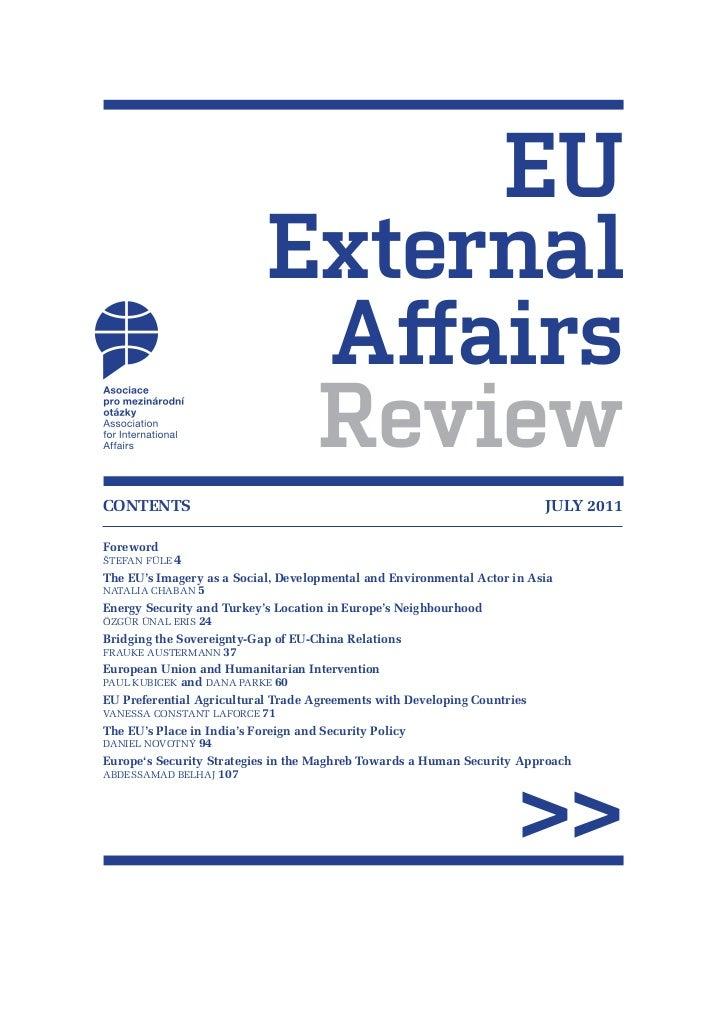 EU                          External                           Affairs                           ReviewCONTENTS CONTENTS  ...