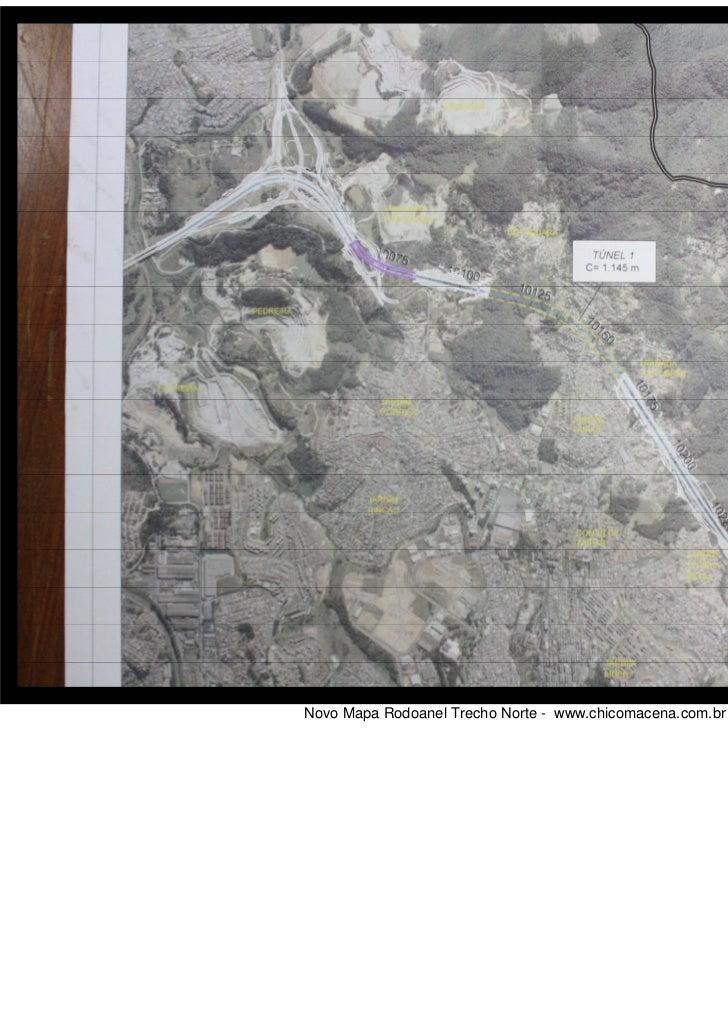 Novo traçado Mapa Rodoanel Trecho Norte