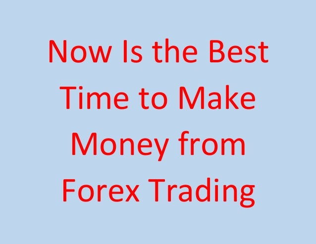 I make money trading forex