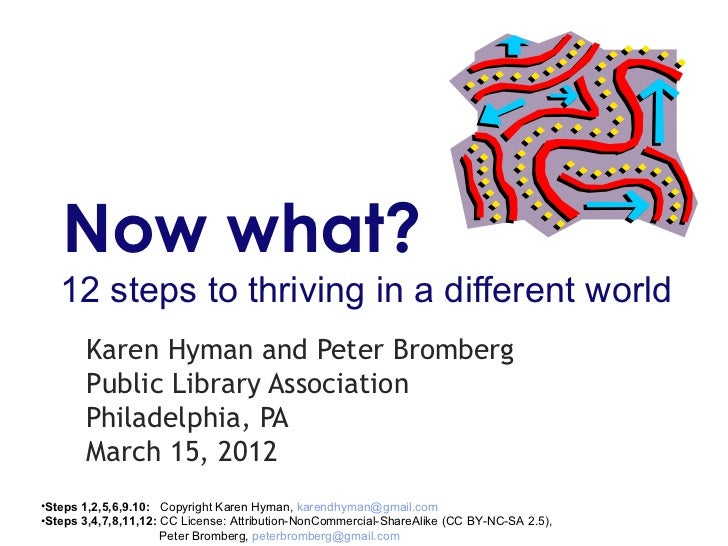 Now what?   12 steps to thriving in a different world       Karen Hyman and Peter Bromberg       Public Library Associatio...