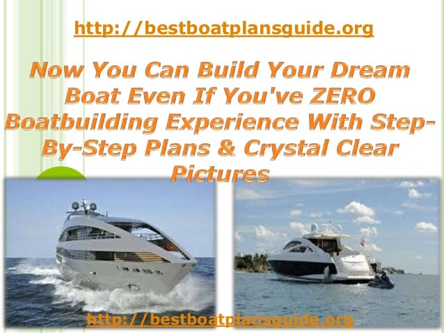 Now you can build your dream boat