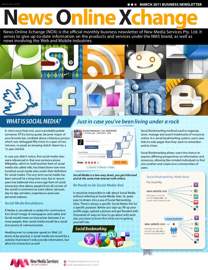 MARCH 2011 BUSINESS NEWSLETTERNews Online XchangeMARCH 2011 ISSUE serves to give up-to-date information on the products an...