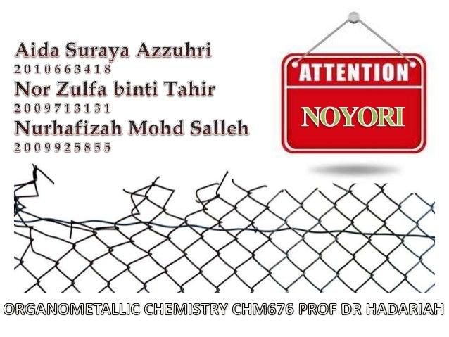 Noyori asymmetric hydrogenation