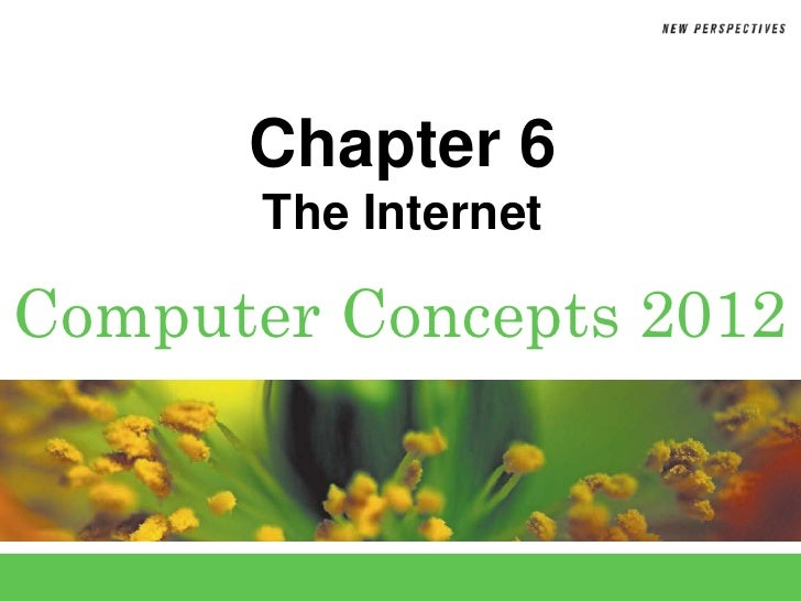 Chapter 6       The InternetComputer Concepts 2012