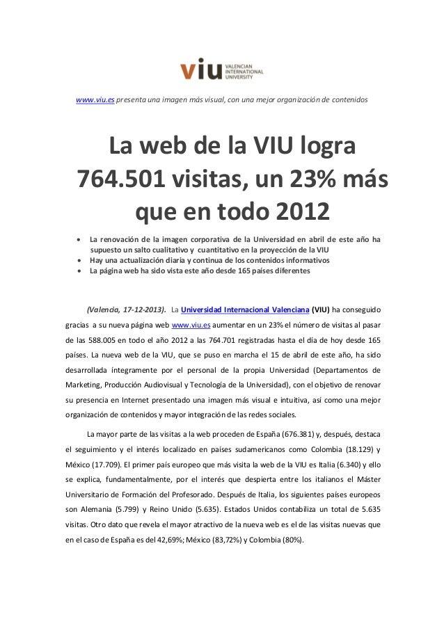Np 764.00 visitas  web viu