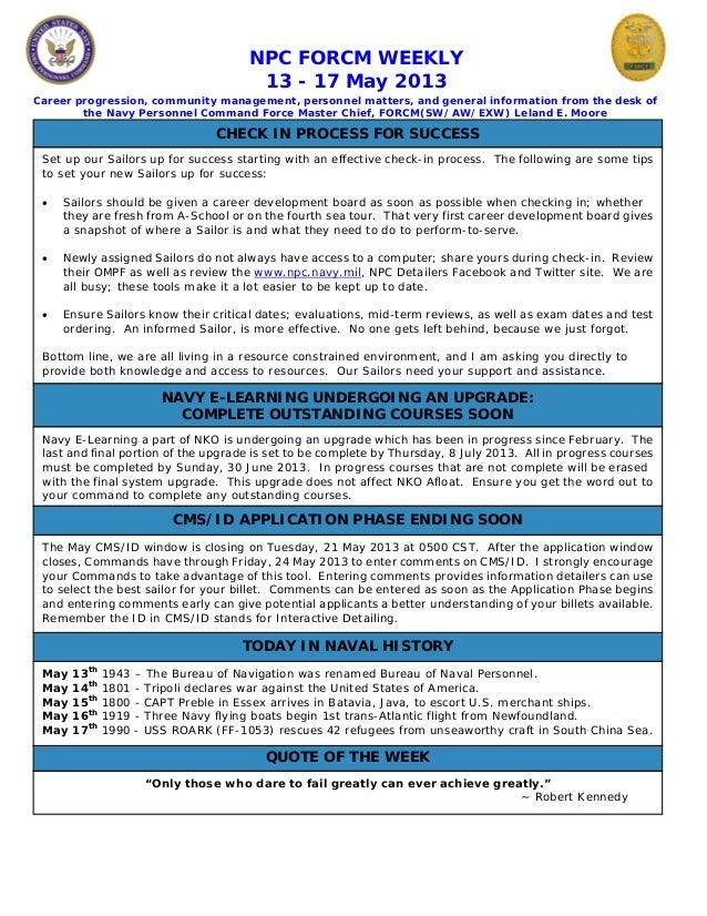 Npc force weekly 13 17 may 2013