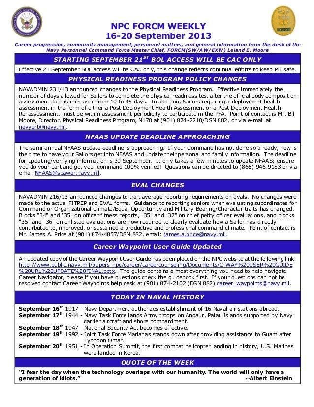 Npc force weekly 16 20 september 2013