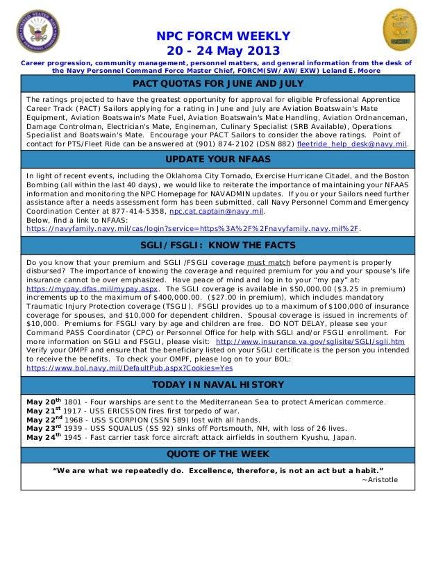 Npc force weekly 20 24 may 2013