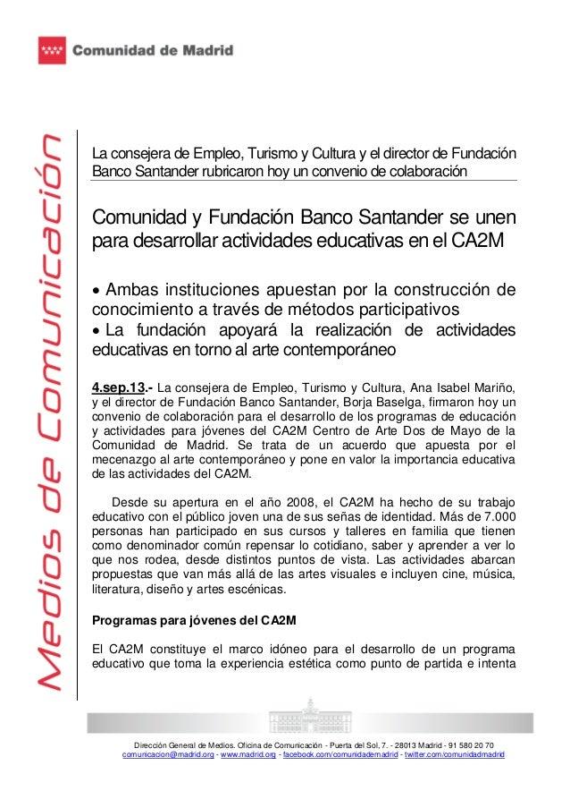 Convenio de colaboración con el Centro de Arte Dos de Mayo