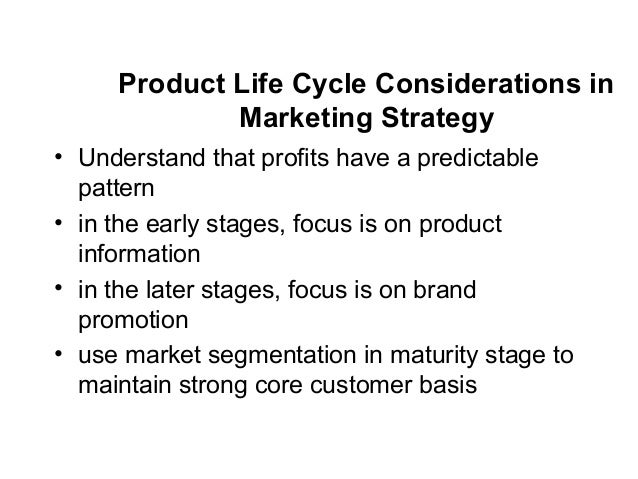 product life cycle pattern+thesis