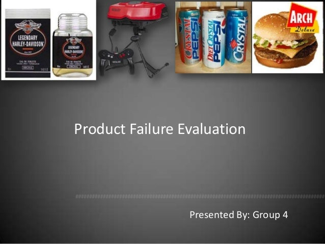 Product Failure Evaluation                 Presented By: Group 4