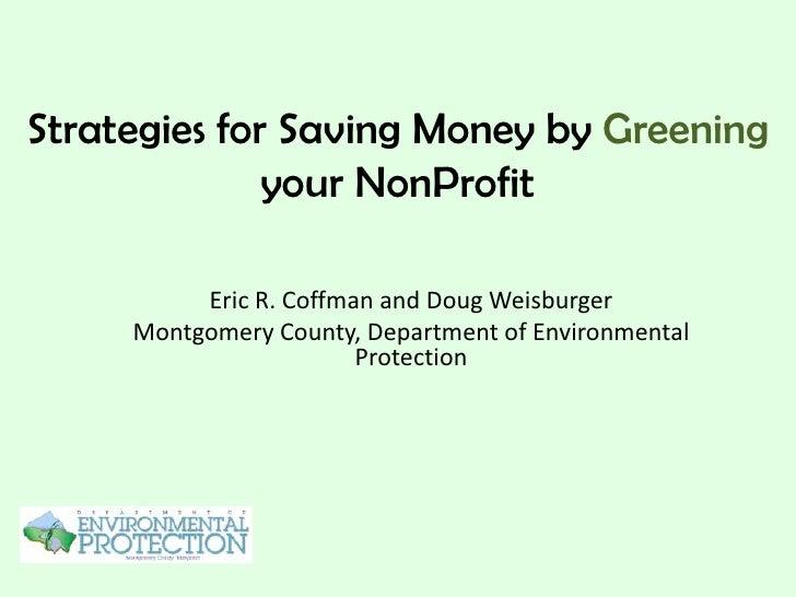 Non-Profit Energy Alliance: Sustainability Webinar