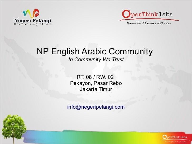 NP English Arabic Community