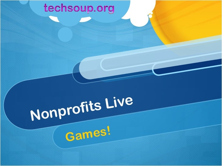 Nonprofits Live! GAMES