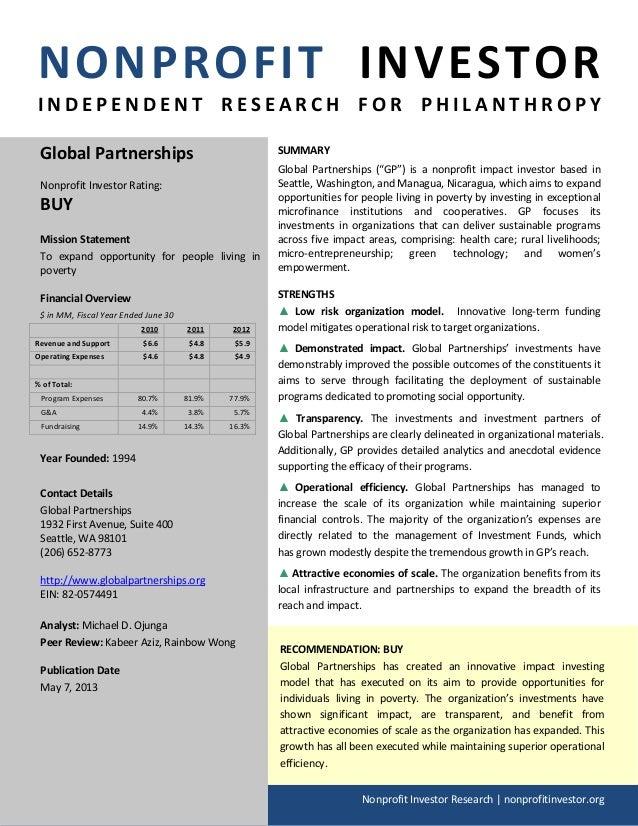 NPI Evaluation of Global Partnerships