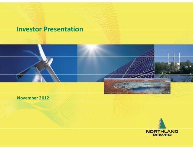 Northland Power Investor Presentation