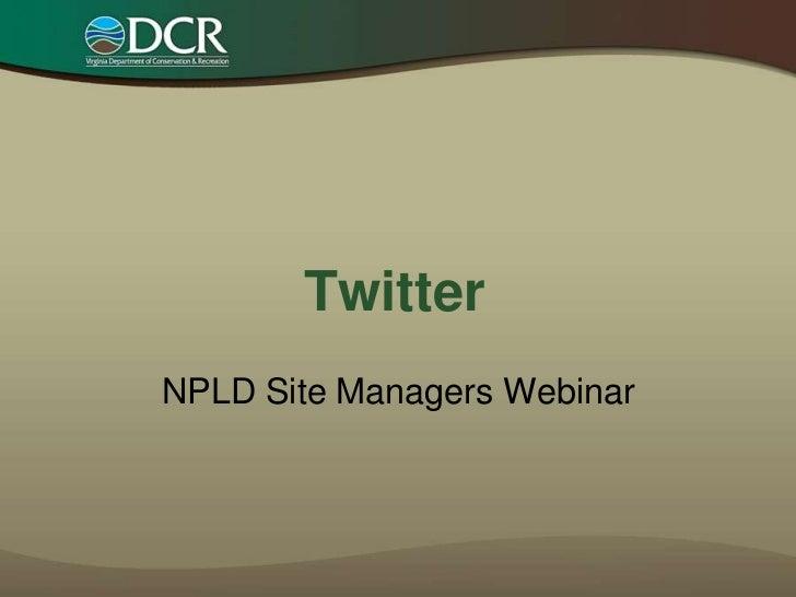 NPLD Twitter